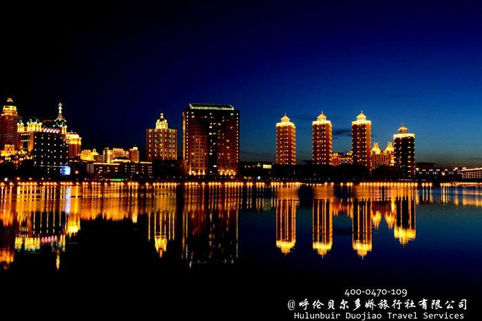 满洲里市夜景
