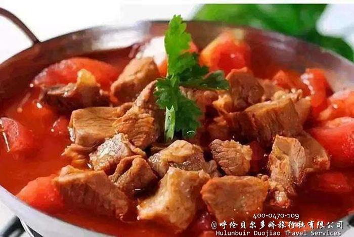 黑山头美食牛肉炖柿子