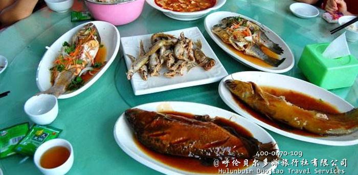 呼伦湖全鱼宴