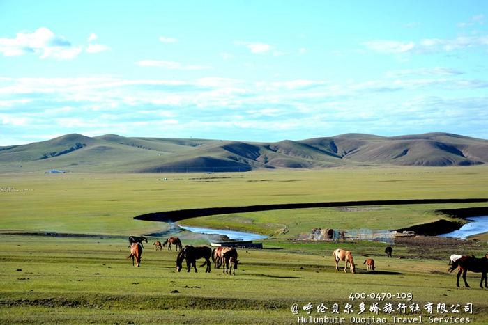 黑山头的蒙古部落草原景区