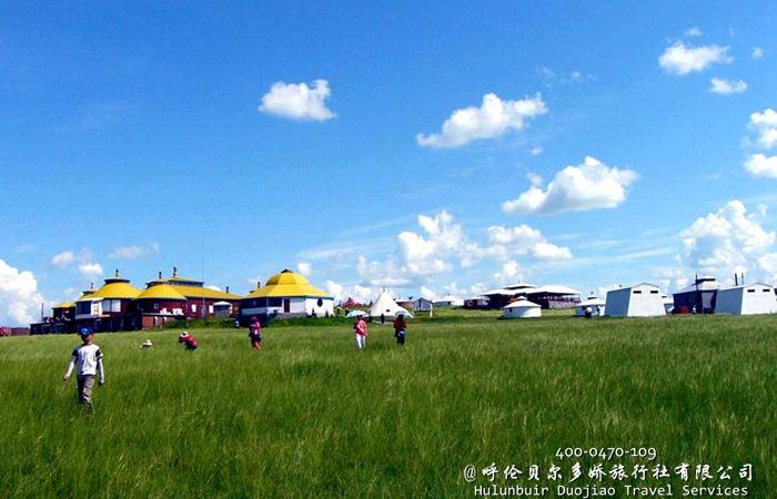 呼伦贝尔金帐汗草原