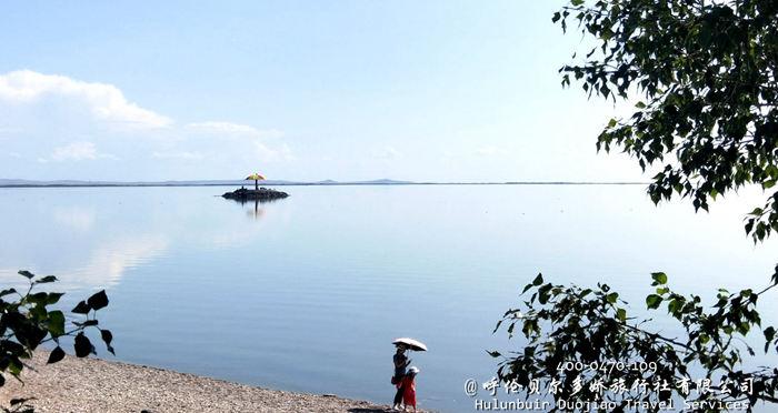 呼伦湖景色