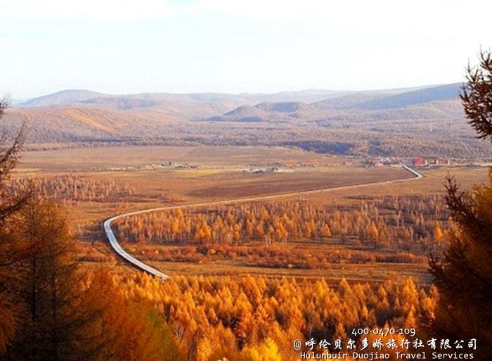 漠河秋季风景