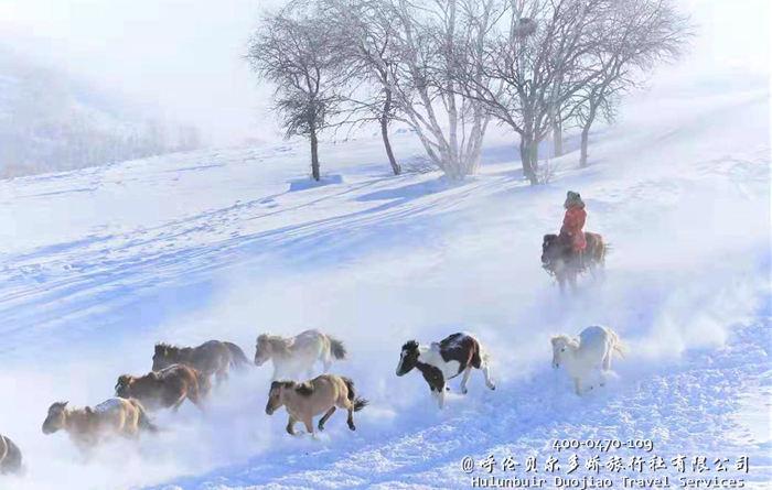阿尔山冬季冰雪景色