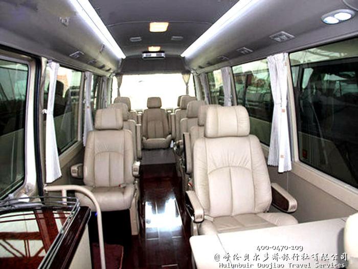 呼伦贝尔旅游包车,丰田考斯特17座中巴车