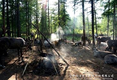 根河敖鲁古雅鄂温克使鹿部落