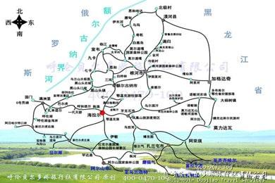 呼伦贝尔旅游包车地图_全境详细高清地图