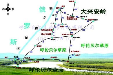 呼伦贝尔北线高清旅游地图