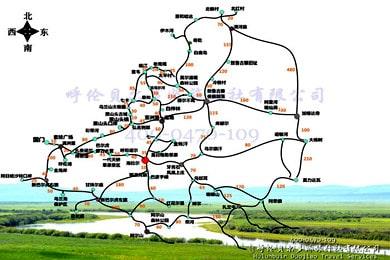 呼伦贝尔包车旅游地图_详细景点高清地图